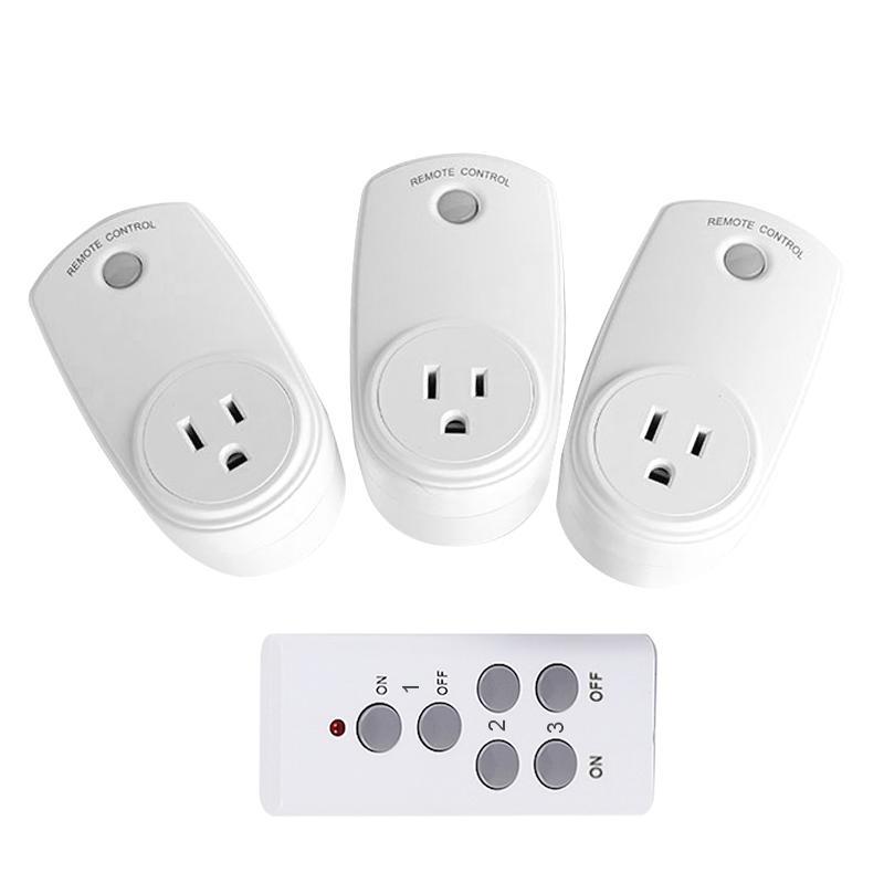 US Tomada RF 433MHz sem fio Remote Control AC220V Tomada Light Switch Compatível broadlink RM Pro Para Smart Home