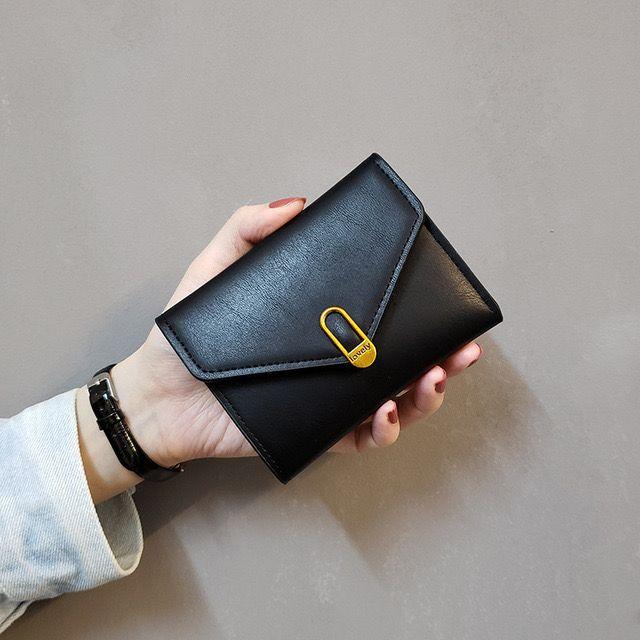 in neuen Liebe europäische und amerikanische einfachen Designers Brieftasche Frauen der Frauen kurz dreifach kleine Geldbeutel Damen-Geldbörse Kartenbeutel Portemonnaie