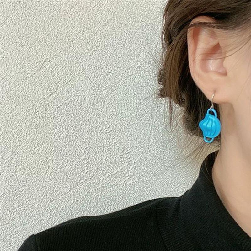 Mulheres para jóias azuis brincos bonitos mascarar designer Dangle jóias Pequeno elegante feminino brincos criativos acessórios frescos jetmk