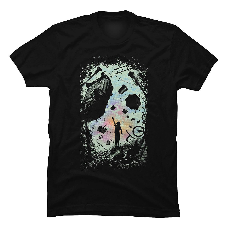 LVTIANRAN Männer Gravity Spiel Lustiges Grafik-T-Shirt mit kurzen Ärmeln Baumwolle Art und Weise T-Shirt Kostenloser Versand