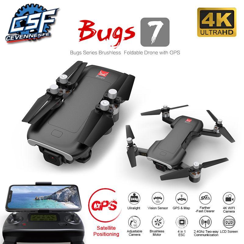 2020 НОВЫЕ Bugs B7 беспилотный 4k GPS 5g WiFi гс Quadcopter бесколлекторный зрения позиционирования полета через 25 минут RC расстояние 300м дроны