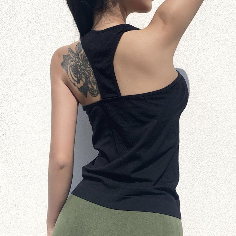 Treinar aptidão profissional magro execução de ioga de Long Women Professional treinamento da aptidão Vest Jacket Sports magro running yo