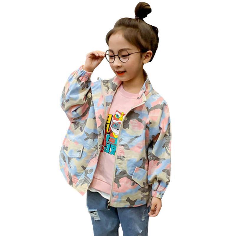 Jacke der Kinder Langarm-Mädchen-Kind-Jacke Tarnung für Kinder Teenager-Kleidung für Mädchen 6 8 10 12 14