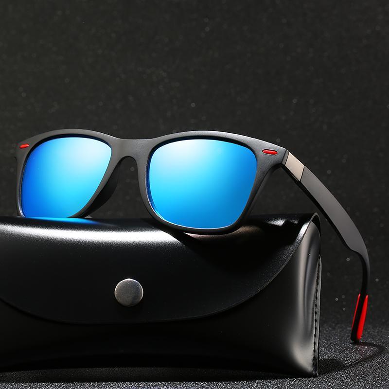 Brand Design Мужчины Поляризованные Соль-Квадратные Женские Солнца Классические Солнцезащитные Очки Polaroid Приводные Очки Для Мужчины Мужской UV400 Gafas de Рамка TCIBR