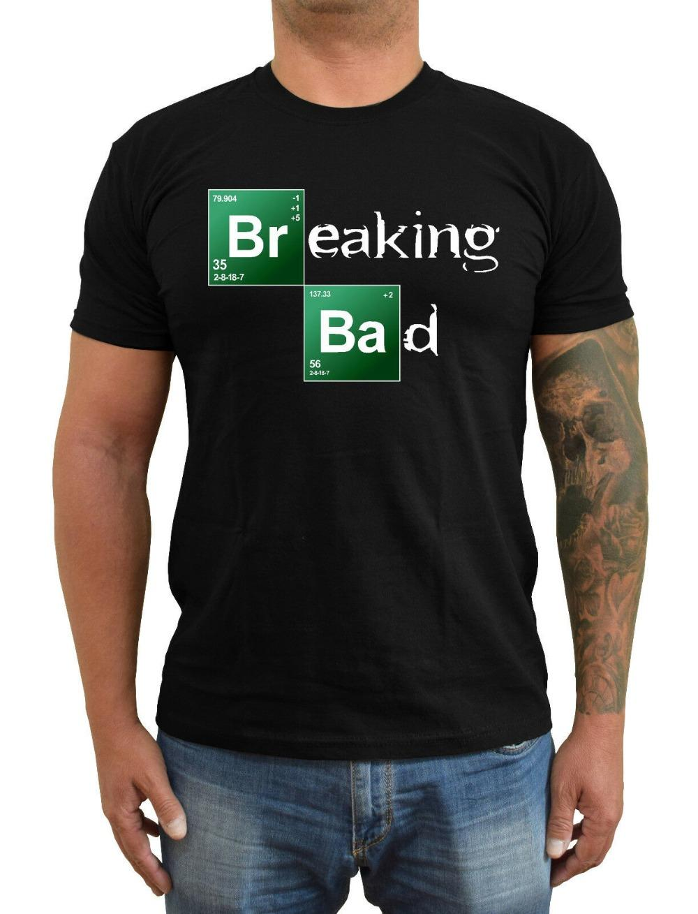 Breaking Bad elementi chimici T-shirt Ver. 1 uomo in cotone T-shirt classica 2019 O Collo Street Wear Hip Hop Top Film Tee Shirt