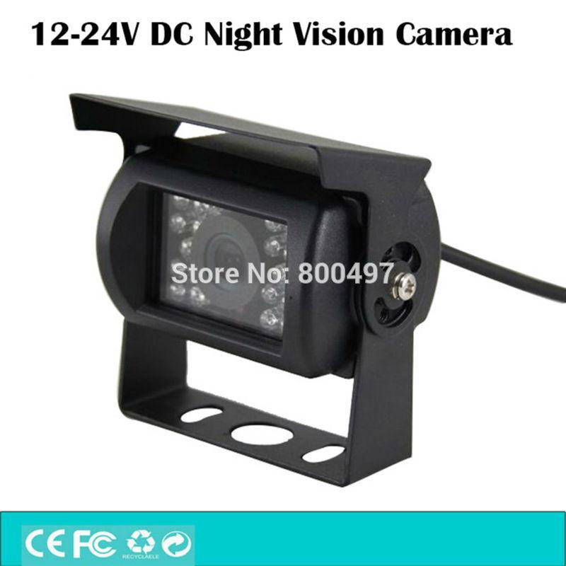 Universal 12V 24V DC Color Reverse Backup Car Rear View Camera 480 TVL 170 Degree Waterproof IP67 for Trucks Bus Heavy Equipment