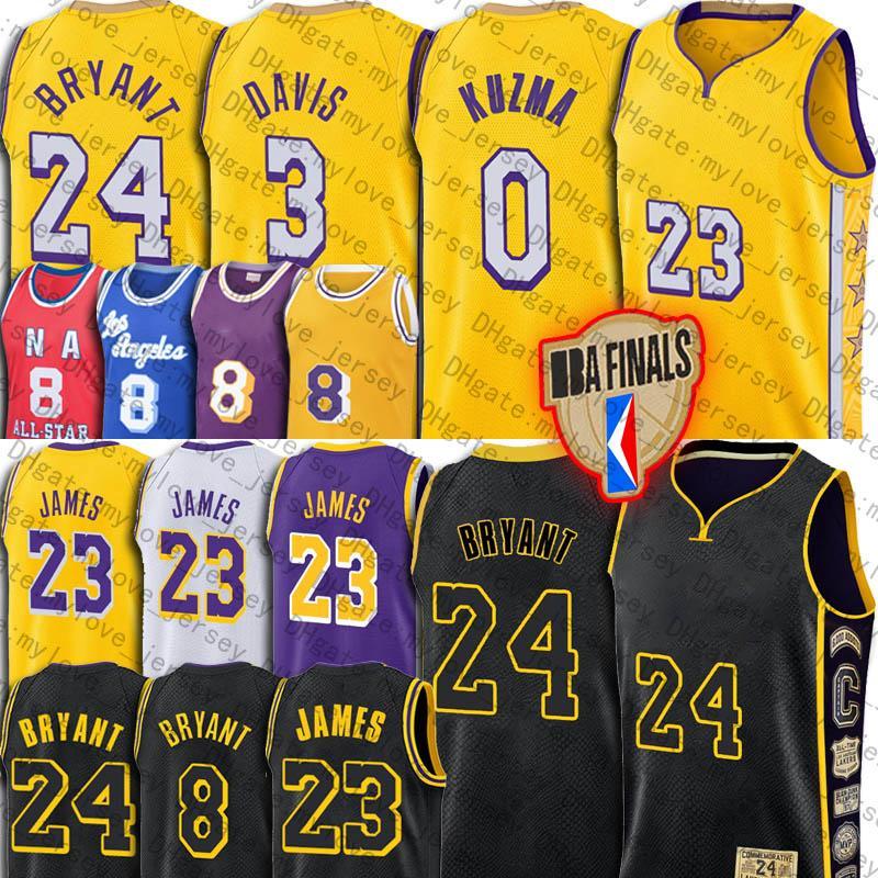 James Bryant LeBron James Black Jersey Anthony Davis Mamba Trikots LosAngelesLakersJersey Kyle Earvin Kuzma Johnson Jerseys
