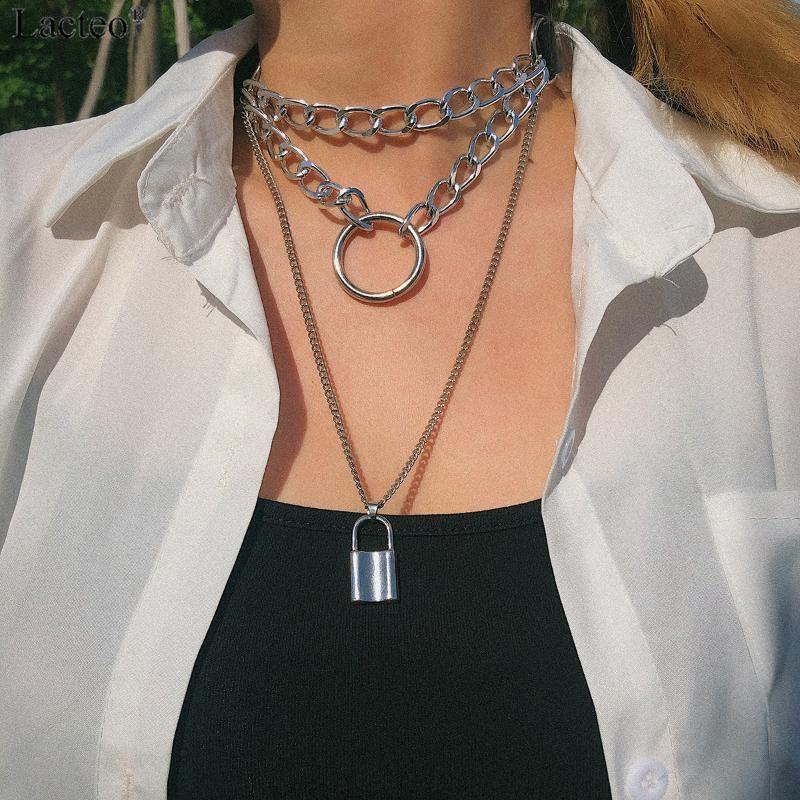 Charm Chocker Women/'s Nightclub Fashion Alloy Crystal Necklace Multi-Layer FI