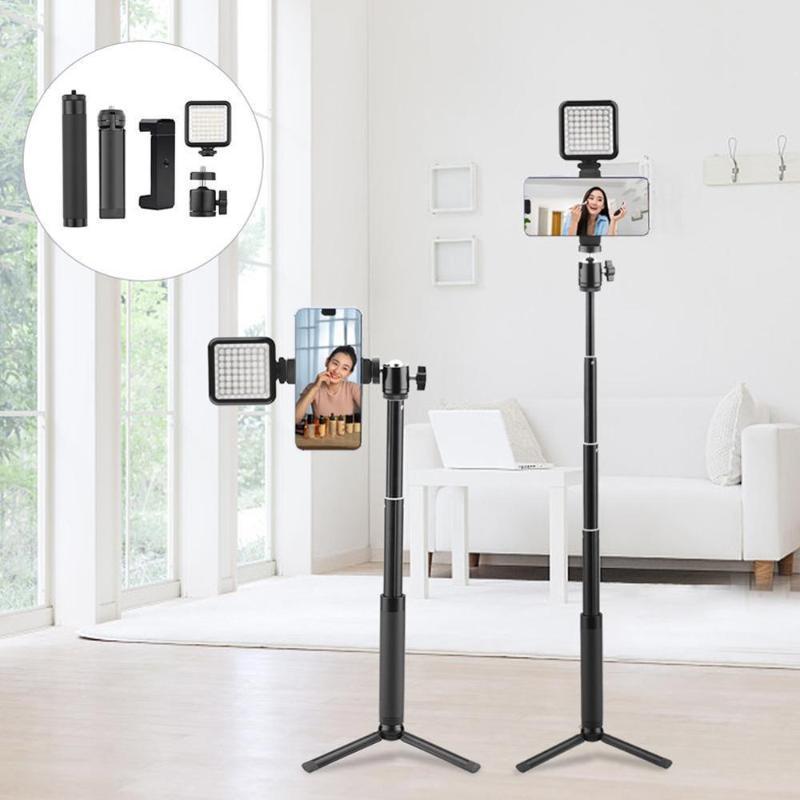 Statives Handy-Stativ-Handheld Tragbare Selfie-Stick-Verlängerungshalterung Bodendachthof Outdoor-Pode-Artefakt