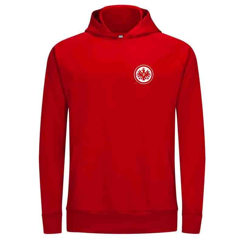 Giacca FC Eintracht Frankfurt autunno uomini con cappuccio maglione invernale Calcio tosa esterna riscaldata Veste donne casual abiti Unisex Clothing