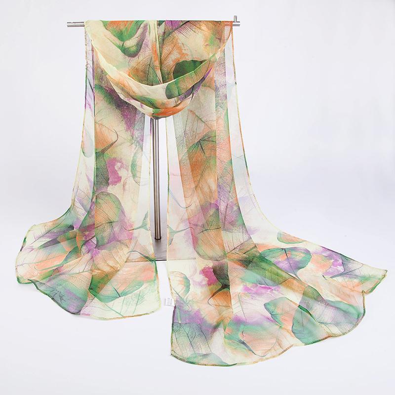 2020 nuove sciarpe di hot-vendita modo europeo e americano, georgette signore foglia sciarpa tutto-fiammifero classico, autunno e inverno SHA