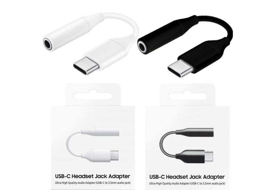 3.5mm의 오디오 USB의 C 헤드셋 잭 어댑터 케이블의 경우 삼성 갤럭시 노트 10 보조 오디오 케이블 USB-C 3.1 C 형