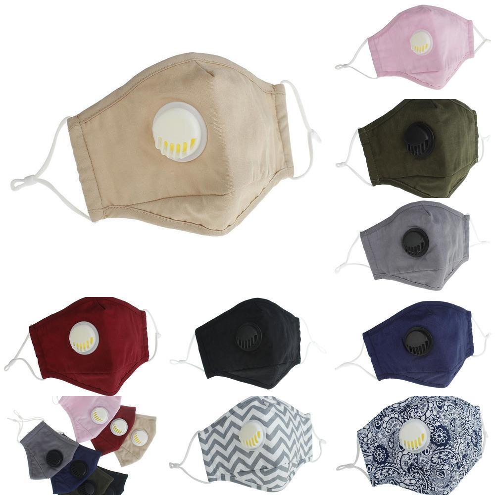 Wiederverwendbare Anti-Staub Waschbar NEW PM2.5 Gesicht 2020 Mask Masken Ventilschutz Baumwolle Gesicht ma 876N1
