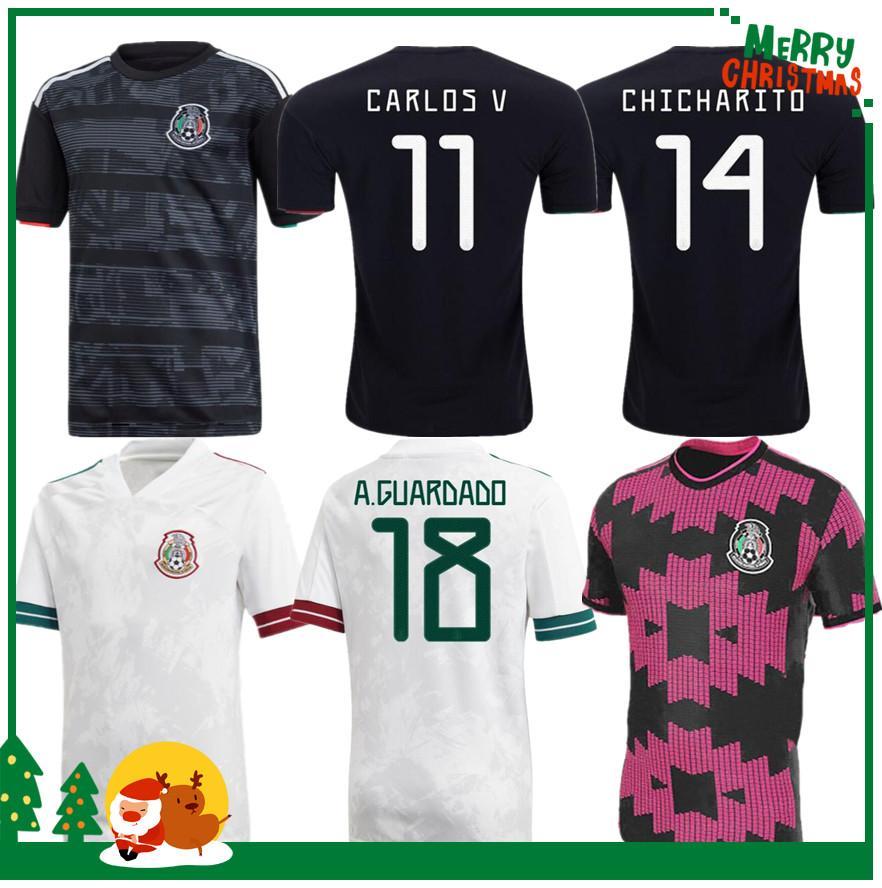 2020 México H Lozano dos Santos Chicharito Soccer Shirt 2020 2021 Esportes Football Jersey Adulto Man + Kids Kit