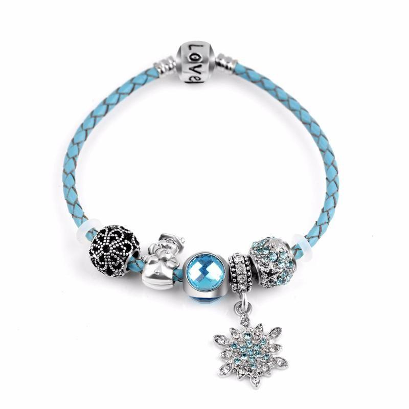 2020 Christmas Luxury Silver Plated медведь Шарм Синий Murano бисер браслет для женщин Fit оригинальных браслеты ювелирных изделий