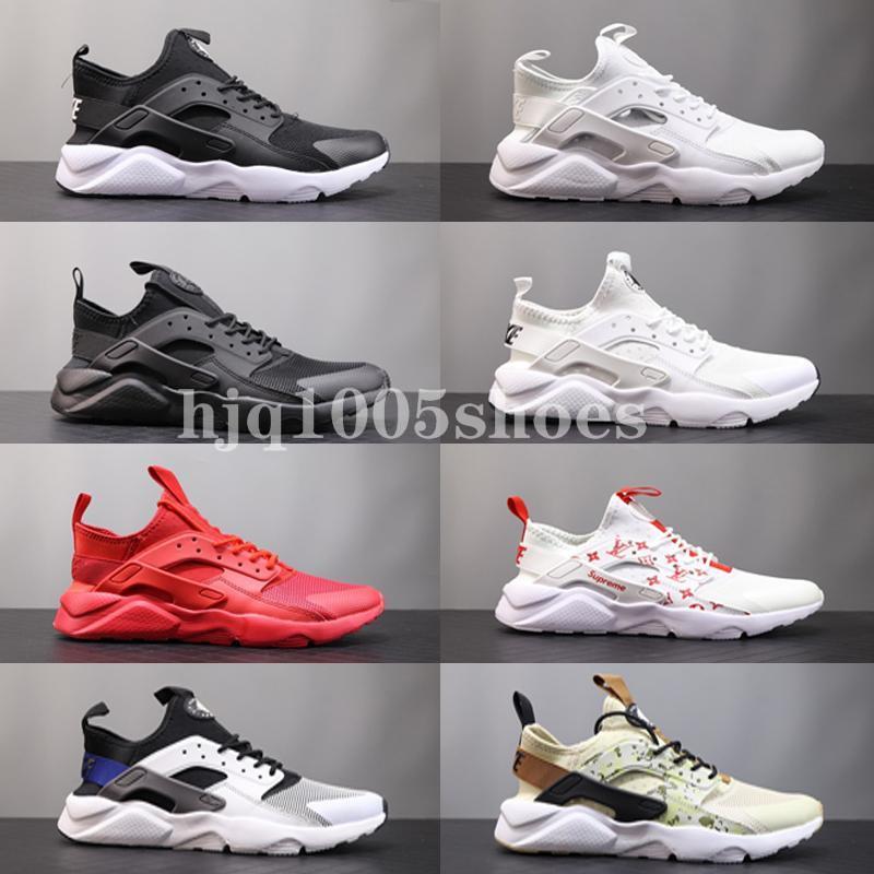 2020 الجديدة Qaulitys العليا Huarache 1 4 أحذية أبيض أسود رجل إمرأة حذاء رياضة Huaraches المدربين huraches huarache حذاء عرضي