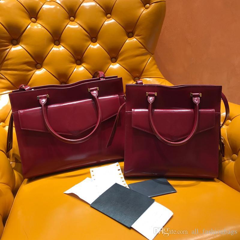 nueva tapa de la llegada de lujo de piel de ternera de calidad alta de la ciudad bolsas de dos tonos mujeres hombro bolsa de la marca del diseñador de moda los bolsos de mano bandera