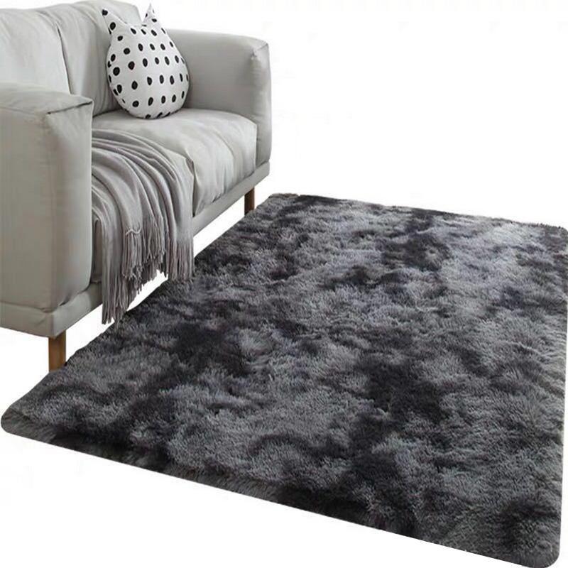 Teppich Krawatte Färben Plüsch-weiche Teppiche für Wohnzimmer Schlafzimmer Gleitschutz Fußmatten Schlafzimmer Wasseraufnahme Teppich Teppiche