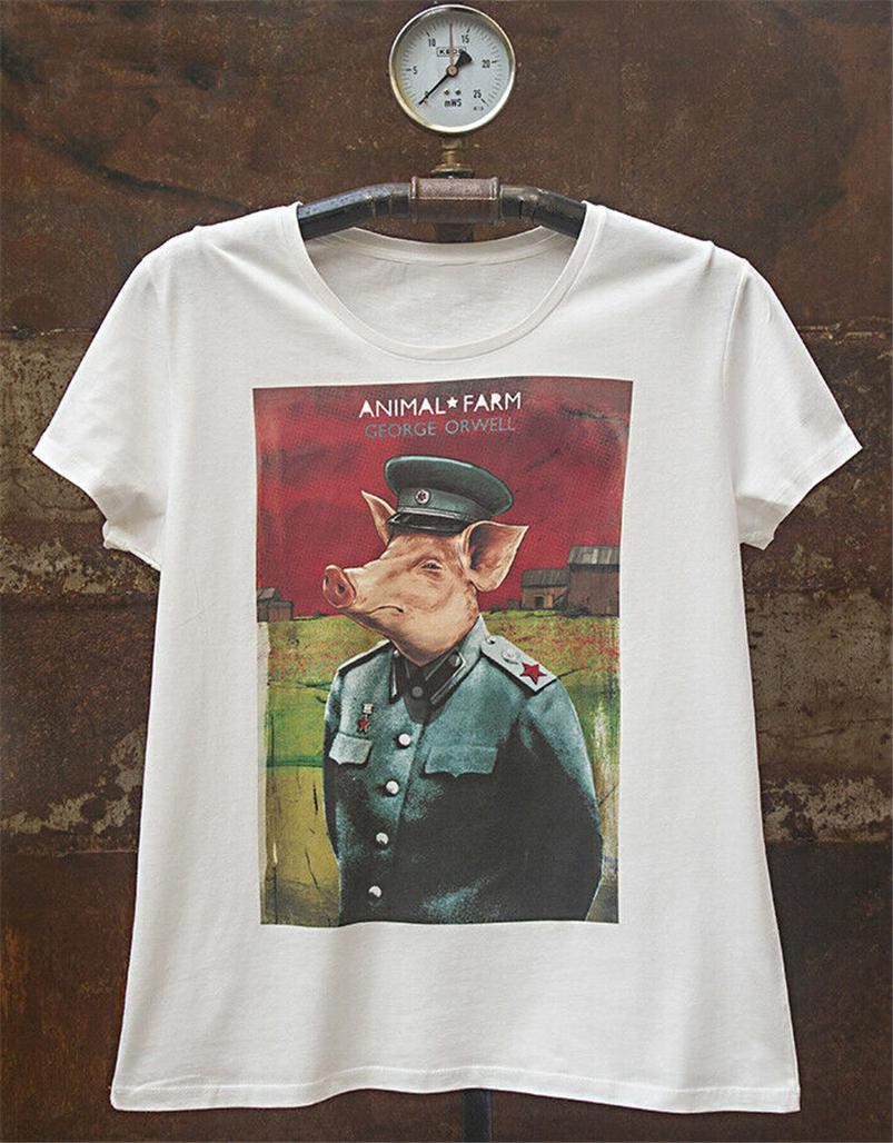 Tarım George Orwell Erkekler'S Tişört Giyim Özel Ekran Baskılı Tee Gömlek