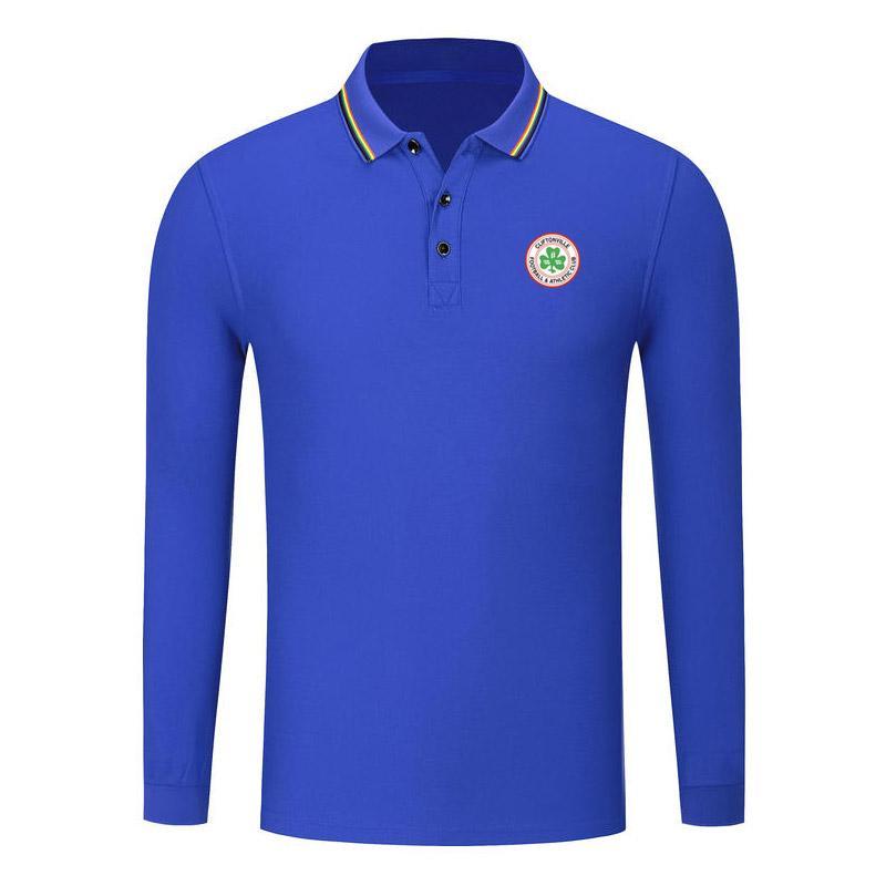 Cliftonville New Fall Fashion Langarm Baumwolle POLO Shirt Golf-Langarm-Revers-Hemd Sport Slim Fit Geschäft Polo Fußball POLO