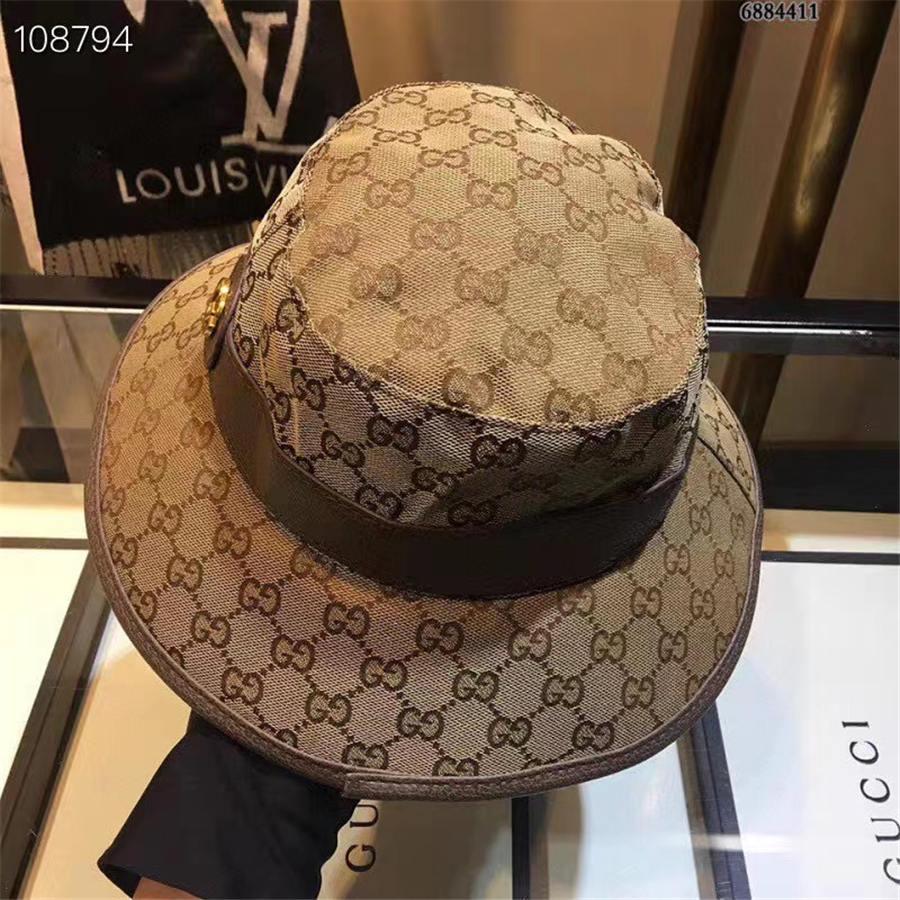 20SS Luxus Verschiffen frei Entwerfer-Marken-Mode Fischer Hüte Kübel Hut-Fischen-Outdoor-Hip Hop-Kappe Männer Sommer für Fischer-Hut