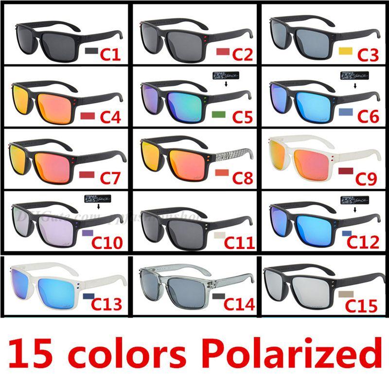 الرياضة الاستقطاب النظارات الشمسية التوقيع في الهواء الطلق ركوب النظارات الصيد 9102 عالية الجودة نظارات UV400 حماية العين 15 الألوان