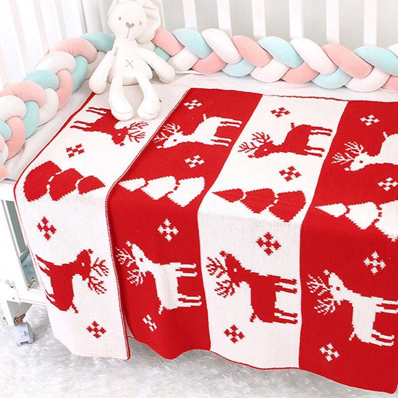 New 2020 Autumn Winter Newborn Baby Quilt Boys Girls Hold Blanket Christmas Wind Infant Baby Boy Girl Knit Blanket
