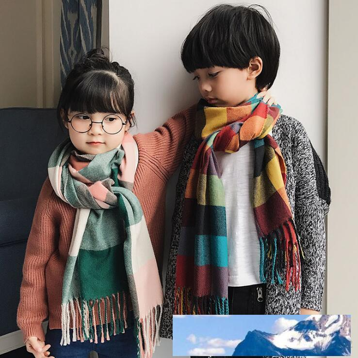 Autumn Winter Warm Children Scarf Imitation Cashmere Plaid Kids Scarves Boy  And Girl Comfortable Neckerchief Pashmina Shawl Wrap Shawls And Wraps From  Green_home, $6.66| DHgate.Com