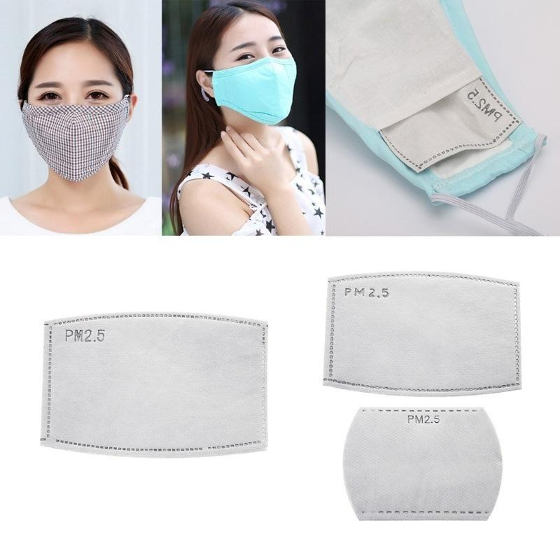 Mask filter piece PM2.5 filter piece melt blown activated carbon anti haze and dust five layer filter piece pack of ten pieces