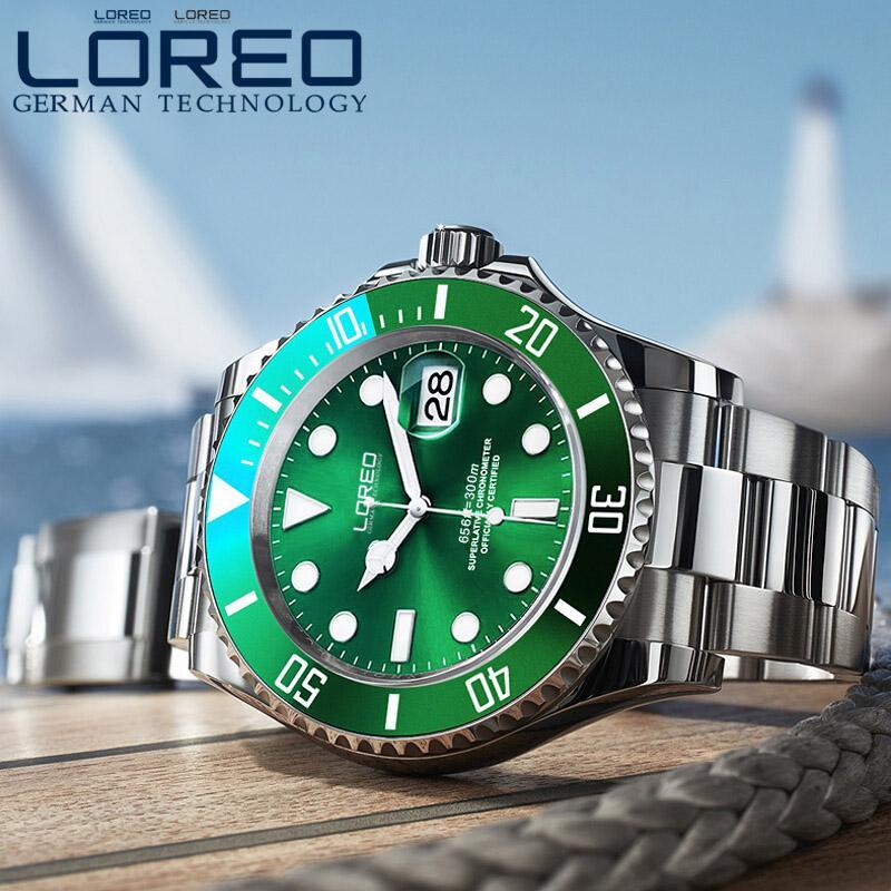 Montres Loreo Hommes Montres Top Mode Automatic Sport Montre Sport Casual Holle Horloge Reloj Mecanico Hombre + Boîte