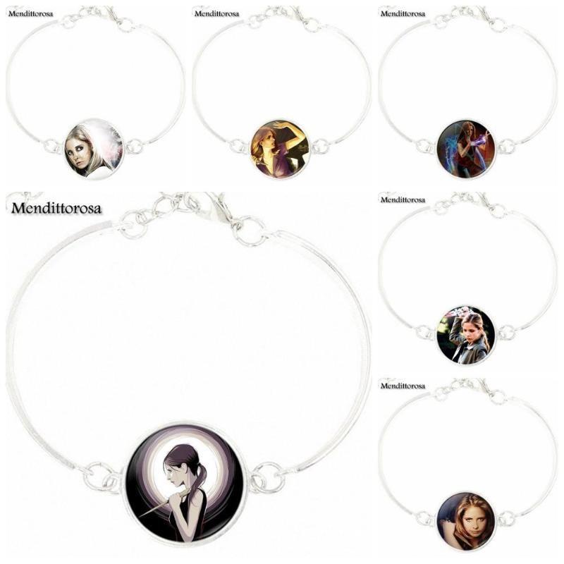 Für Frauen Mode Schmuck Vintage-Schmuck Glascabochon-Armband-Armband Buffy Im Bann der Dämonen