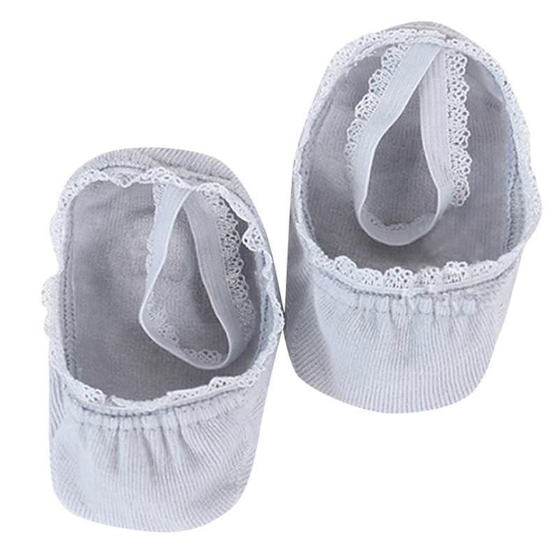 Los niños recién nacido calcetines de algodón de los bebés masculinos calcetines cortos de verano causal lindo encaje interior sólido K328 Slip Gris anti tobillo