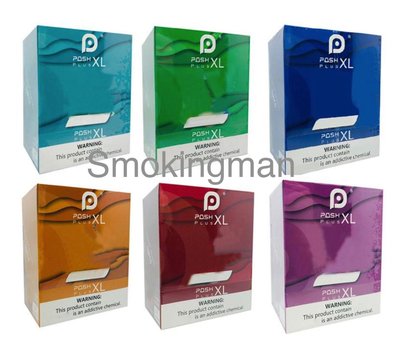 Posh Plus XL 1500 Puffs Posh Plus dispositif jetable Vape Stylo Vaporisateur de cigarette électronique 280MAH 2.0ml POD 13 couleurs avec code de sécurité