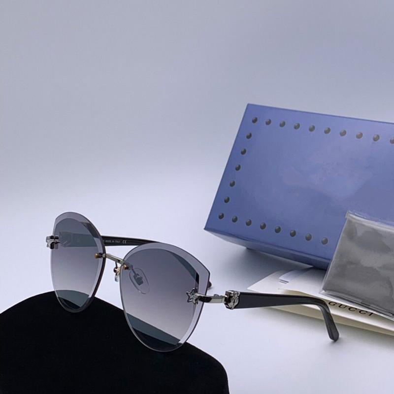 0286 أزياء رجالي فاخر النظارات الشمسية الإطار المعدني أعلى جودة مصمم النظارات بسيطة الكلاسيكية حماية أسلوب UV400 النظارات في الهواء الطلق مع مربع
