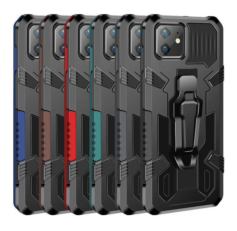 iPhone 12 6.1 11 Pro Max TPU PC Casos de telefone Anti-Drop para Samsung A51 A71 5G A01 Capa de Armadura de Capa traseira