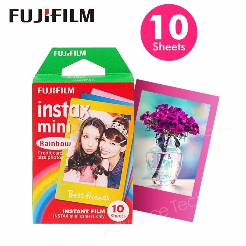 Genuine Fujifilm Instax Mini Filme Rainbow Fuji Instant Papel Papel 10 Folhas para 70 7s 50s 90 25 Câmeras de Compartilhar