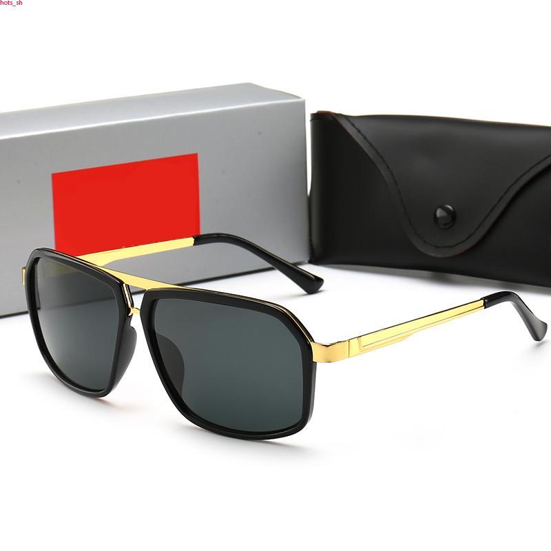 RayBan RB4186 occhiali da sole atteggiamento Classic per Men Square frame occhiali da sole stile unisex di protezione UV400 placcato oro Telaio Vieni Eyewear prossimo con la