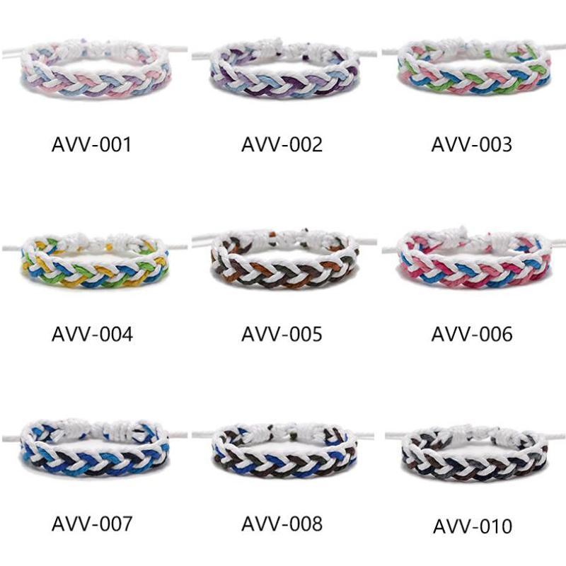 Nuovo originale Rope Misto-colore Bracciale per gli uomini di campeggio esterna Sport Wristband donne Rope braccialetto Maschio Gioielli regolabile