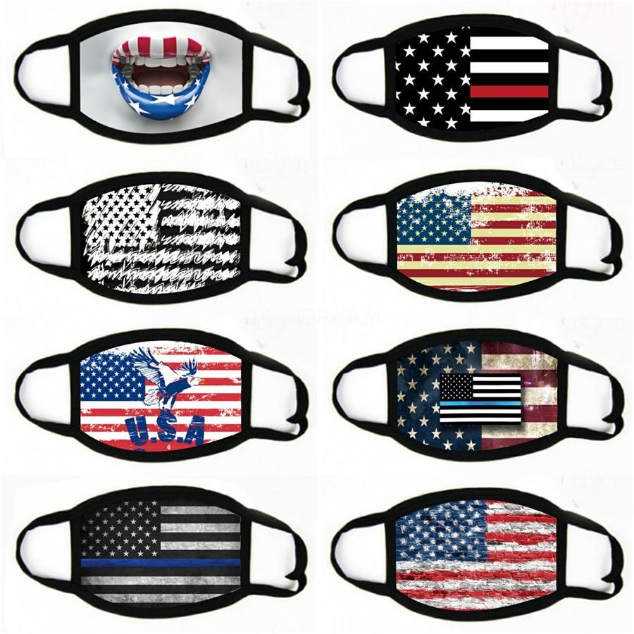 Bandera americana magia bufanda de la impresión digital multifuncional magia Headwear turbante Moda Montar collar máscara protectora # 254