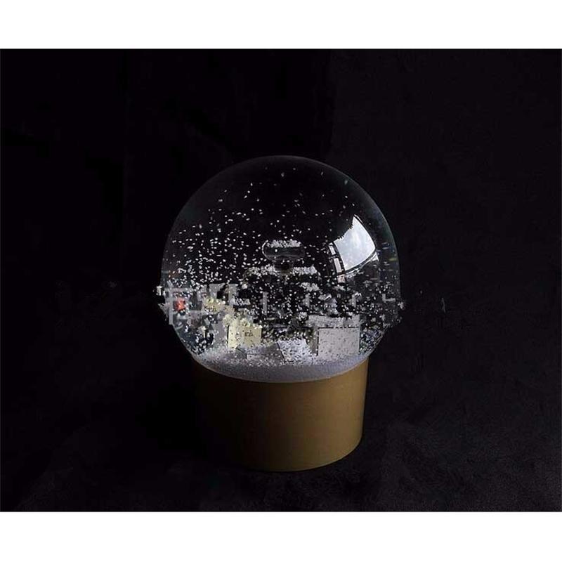 Golden Snow NEW! Глобус с флаконом духов Внутри Snow Crystal Ball для Специального дня рождения новизны Рождества подарка VIP