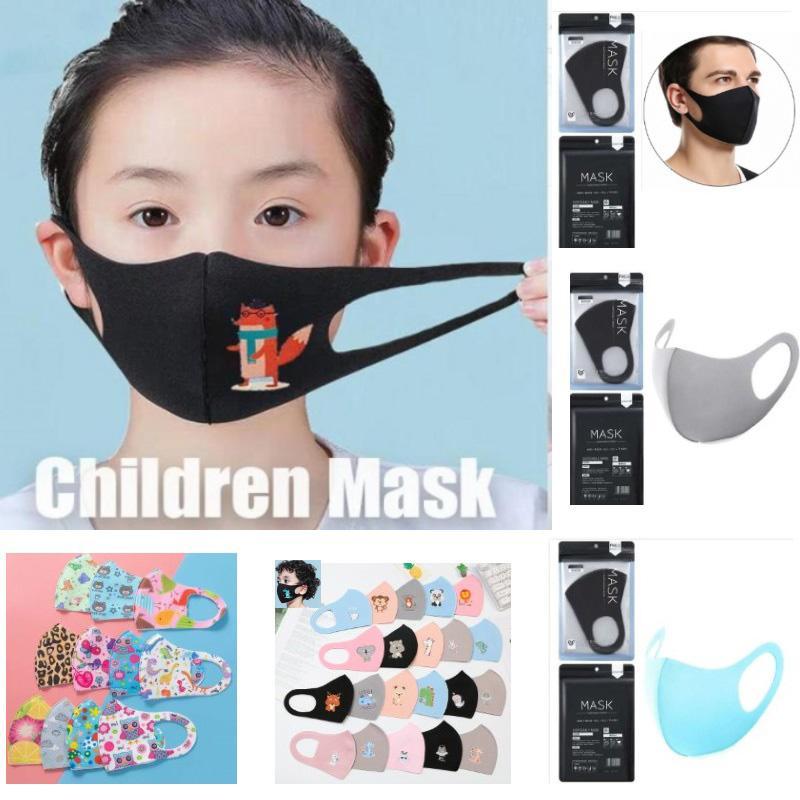 Çocuklar Anti-kirlilik Maskeleri Erkekler Kızlar PM2.5 Karikatür Ağız Yüz Maskeleri Çocuk Yetişkin Anti-Dust earloop Yıkanabilir Yeniden kullanılabilir Pamuk HH9-3002 Maske