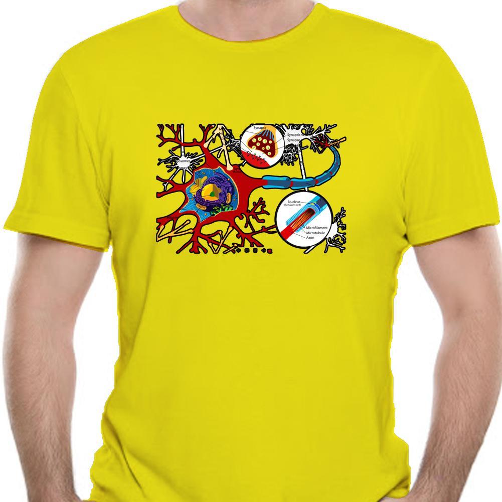 Schwarze T-Shirt Geek Schule T-Shirt Männer-T-Shirt Neuheit Slim Fit Baumwolle Biologie Nerven Drucke Erwachsener Individuelle Studenten T 9000A