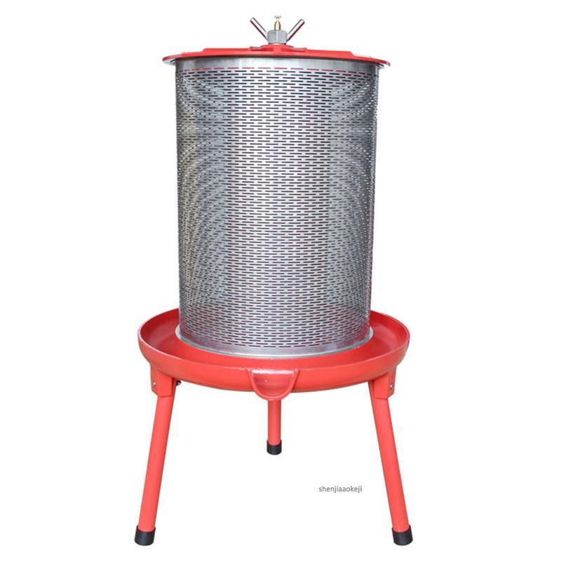 40L semi-automatic Stainless steel press machine Multi-function fruit wine/juice/honey/grape slag separator hydraulic presser