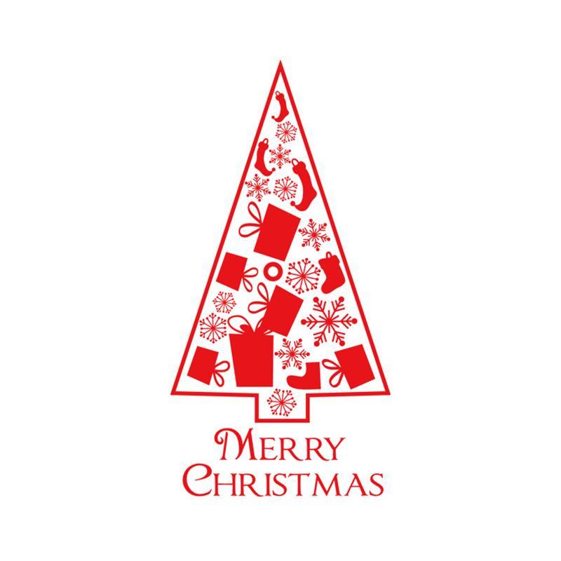 Buon Natale finestra Wall Stickers Ornamenti Poster Decalcomanie impermeabile Albero di Natale Capodanno Home Decor HHF1546