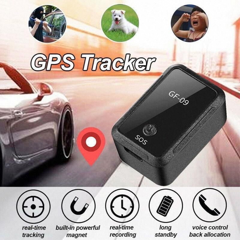 GF09 Mini Car APP GPS Locator Adsorção Gravação Anti de cair o dispositivo de voz Controle de gravação em tempo real de rastreamento para o miúdo carro yZoo #