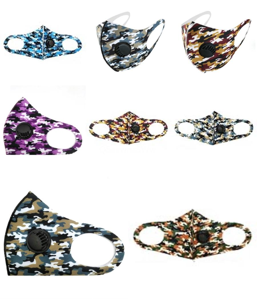 Designer Stampato Maschera Maschere panno di fronte Masque riutilizzabile civile Filtro Mascherina PM2.5 protezione Un bambini spugna Mask spessore di 3 strati Ma # 459