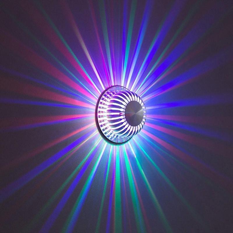 7 Couleur Dimmable LED lampe murale avec 24 Télécommande Touche MURALE lumières pour la maison Décoration d'intérieur moderne Lampes d'éclairage