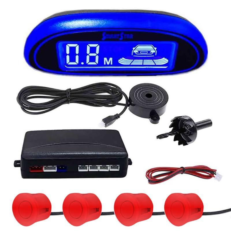 Parking Sensor With 4 Sensors Detector System Monitor Protection Easy Install LED Display Assistance Auto Parktronic Car Reverse