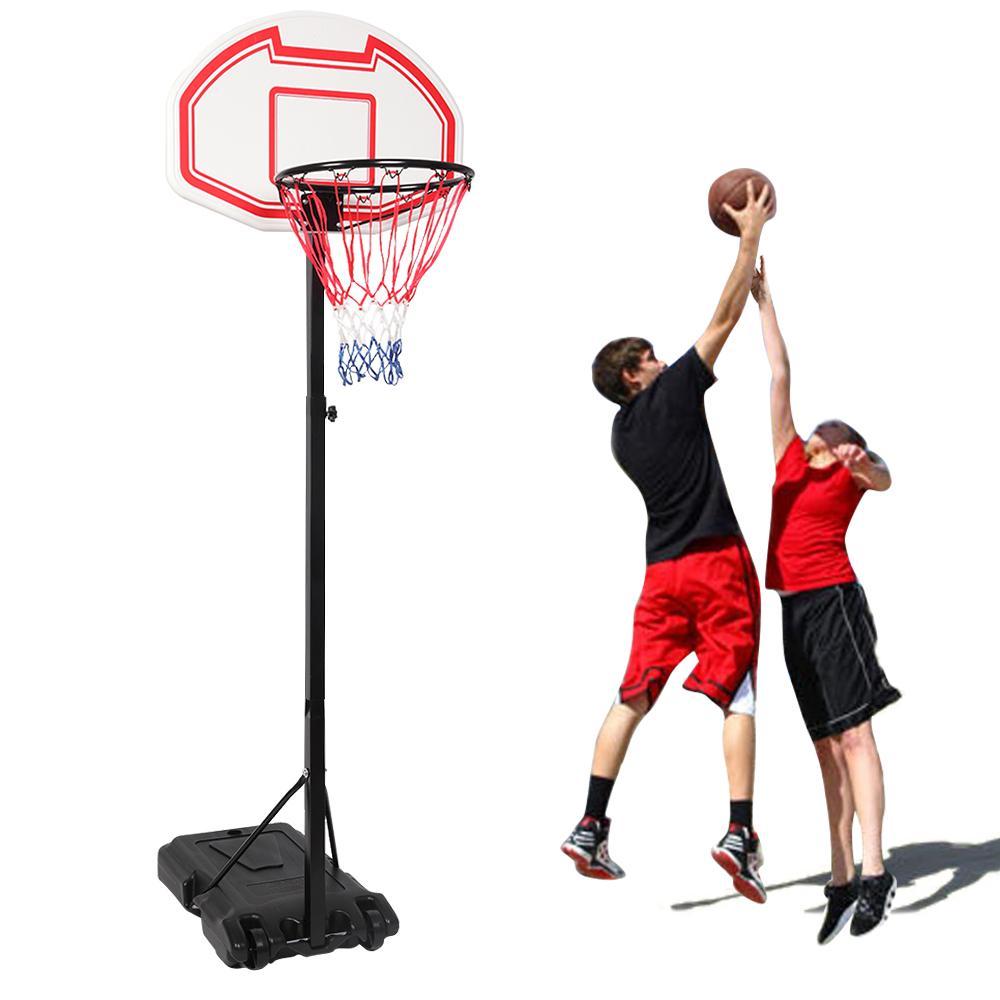 Portable Kids Youth Basketball Court Goal Hoop Pool w/Wheels Indoor Outdoor Adjustable Rim for Teenager