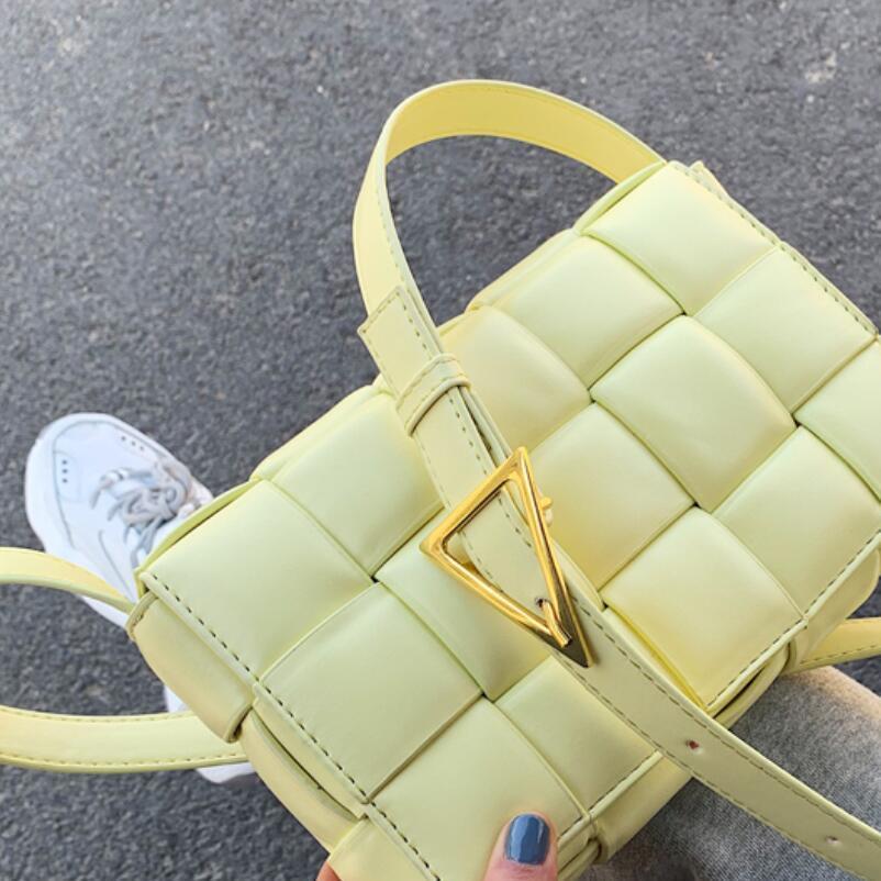 Weave Flap Borse Piazza Crossbody bag 2020 di estate di nuovo di alta qualità in pelle progettista delle donne borsa di corsa della spalla Messenger Bag